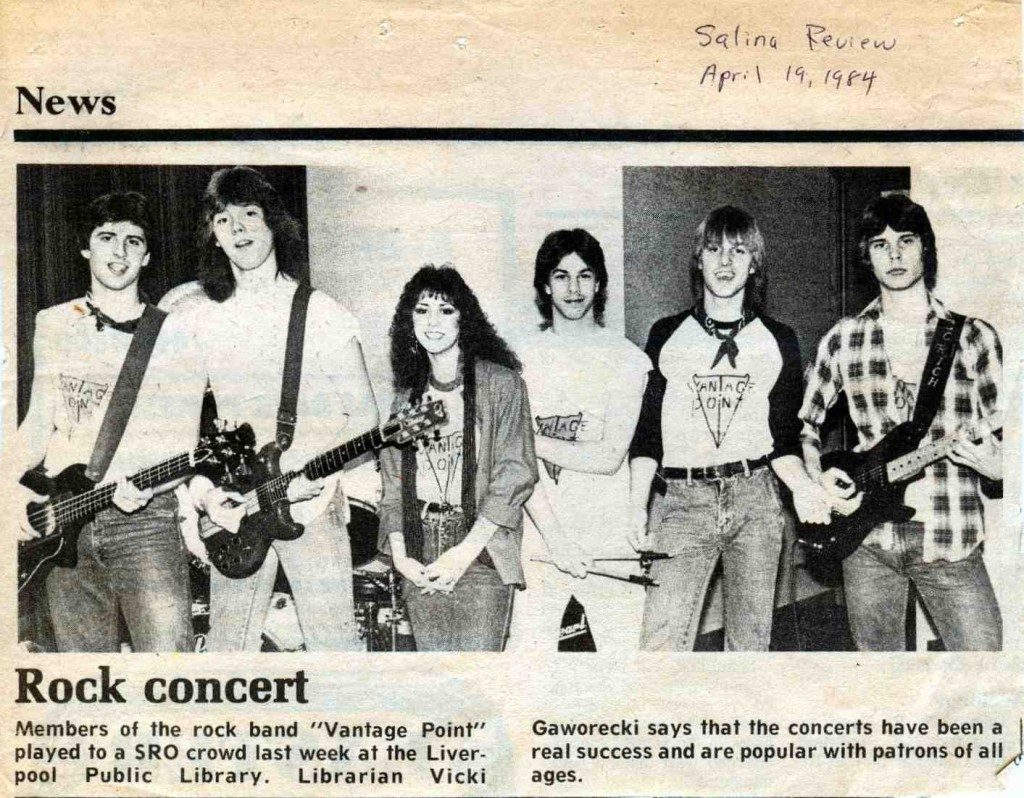 Todd Vinny Vincigeurra's first band Vantage Point in 1984